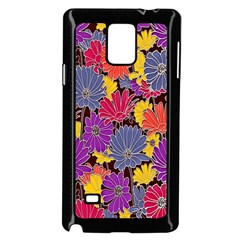 Colorful Floral Pattern Background Samsung Galaxy Note 4 Case (black) by Nexatart