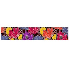 Colorful Floral Pattern Background Flano Scarf (large)
