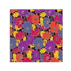 Colorful Floral Pattern Background Small Satin Scarf (square) by Nexatart