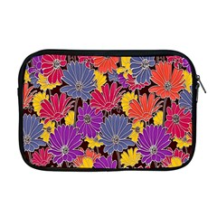 Colorful Floral Pattern Background Apple Macbook Pro 17  Zipper Case by Nexatart