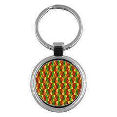 Colorful Wooden Background Pattern Key Chains (round)  by Nexatart