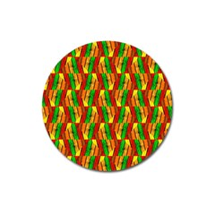 Colorful Wooden Background Pattern Magnet 3  (round) by Nexatart