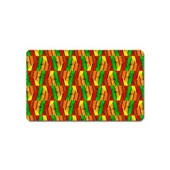 Colorful Wooden Background Pattern Magnet (name Card) by Nexatart