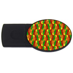 Colorful Wooden Background Pattern Usb Flash Drive Oval (2 Gb)