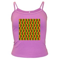Colorful Wooden Background Pattern Dark Spaghetti Tank