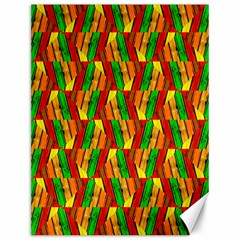 Colorful Wooden Background Pattern Canvas 12  X 16   by Nexatart