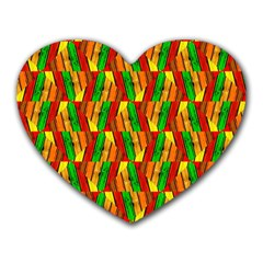 Colorful Wooden Background Pattern Heart Mousepads by Nexatart