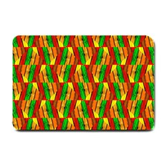 Colorful Wooden Background Pattern Small Doormat  by Nexatart