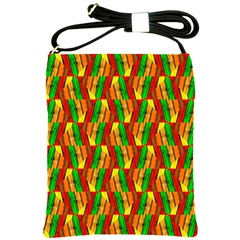 Colorful Wooden Background Pattern Shoulder Sling Bags by Nexatart