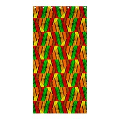Colorful Wooden Background Pattern Shower Curtain 36  X 72  (stall)  by Nexatart