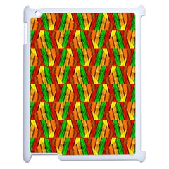 Colorful Wooden Background Pattern Apple Ipad 2 Case (white)