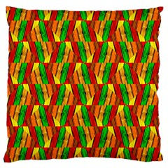 Colorful Wooden Background Pattern Large Cushion Case (one Side)