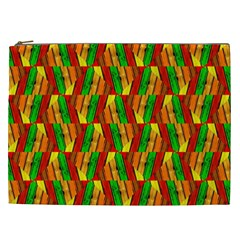 Colorful Wooden Background Pattern Cosmetic Bag (xxl)  by Nexatart