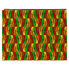 Colorful Wooden Background Pattern Cosmetic Bag (xxxl)  by Nexatart