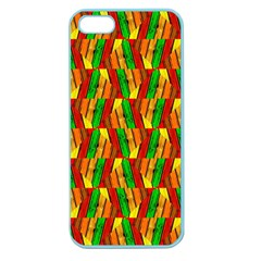Colorful Wooden Background Pattern Apple Seamless Iphone 5 Case (color)
