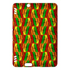 Colorful Wooden Background Pattern Kindle Fire Hdx Hardshell Case by Nexatart