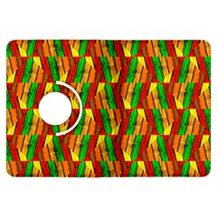 Colorful Wooden Background Pattern Kindle Fire Hdx Flip 360 Case by Nexatart