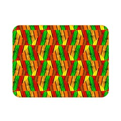 Colorful Wooden Background Pattern Double Sided Flano Blanket (mini)  by Nexatart