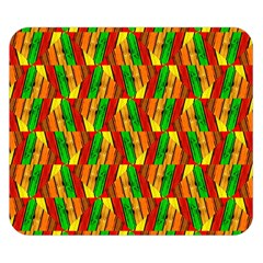 Colorful Wooden Background Pattern Double Sided Flano Blanket (small)  by Nexatart