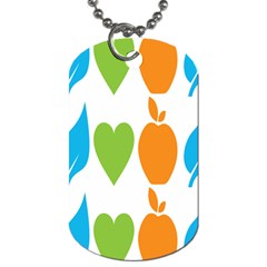 Fruit Apple Orange Green Blue Dog Tag (One Side) by Mariart