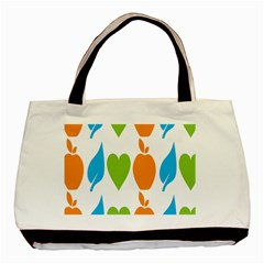Fruit Apple Orange Green Blue Basic Tote Bag (two Sides) by Mariart