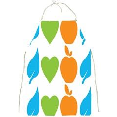 Fruit Apple Orange Green Blue Full Print Aprons by Mariart