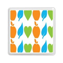 Fruit Apple Orange Green Blue Memory Card Reader (square)  by Mariart