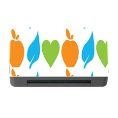 Fruit Apple Orange Green Blue Memory Card Reader With Cf by Mariart