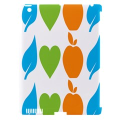 Fruit Apple Orange Green Blue Apple Ipad 3/4 Hardshell Case (compatible With Smart Cover) by Mariart