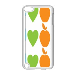 Fruit Apple Orange Green Blue Apple Ipod Touch 5 Case (white) by Mariart