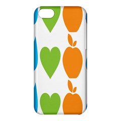 Fruit Apple Orange Green Blue Apple Iphone 5c Hardshell Case by Mariart