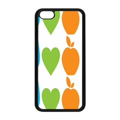 Fruit Apple Orange Green Blue Apple Iphone 5c Seamless Case (black) by Mariart