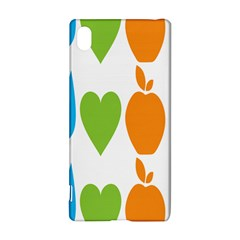 Fruit Apple Orange Green Blue Sony Xperia Z3+ by Mariart