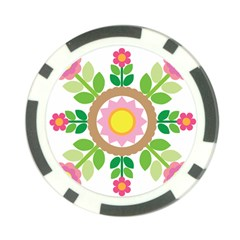 Flower Floral Sunflower Sakura Star Leaf Poker Chip Card Guard by Mariart