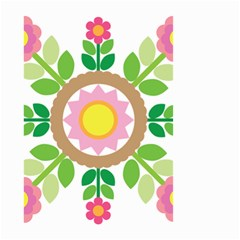 Flower Floral Sunflower Sakura Star Leaf Small Garden Flag (two Sides) by Mariart