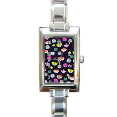 Japanese Food Sushi Fish Rectangle Italian Charm Watch by Mariart