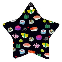 Japanese Food Sushi Fish Ornament (star) by Mariart