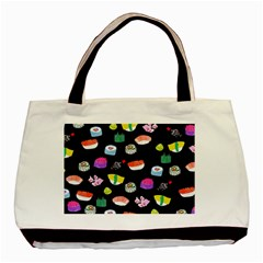 Japanese Food Sushi Fish Basic Tote Bag by Mariart