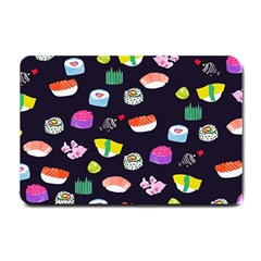 Japanese Food Sushi Fish Small Doormat  by Mariart