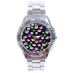 Japanese Food Sushi Fish Stainless Steel Analogue Watch by Mariart