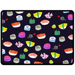 Japanese Food Sushi Fish Double Sided Fleece Blanket (large)  by Mariart