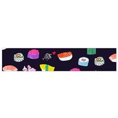Japanese Food Sushi Fish Flano Scarf (small) by Mariart