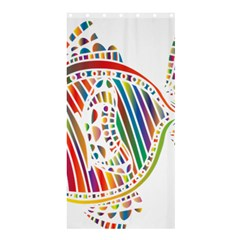 Colorful Fish Animals Rainbow Shower Curtain 36  X 72  (stall)  by Mariart