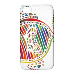 Colorful Fish Animals Rainbow Apple Iphone 4/4s Hardshell Case With Stand by Mariart