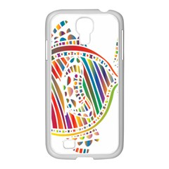 Colorful Fish Animals Rainbow Samsung Galaxy S4 I9500/ I9505 Case (white) by Mariart