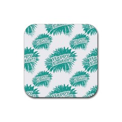 Happy Easter Theme Graphic Rubber Coaster (square)  by dflcprints