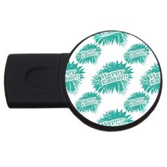 Happy Easter Theme Graphic Usb Flash Drive Round (2 Gb) by dflcprints