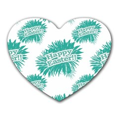 Happy Easter Theme Graphic Heart Mousepads by dflcprints