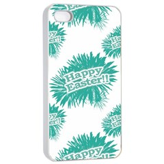 Happy Easter Theme Graphic Apple Iphone 4/4s Seamless Case (white) by dflcprints