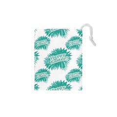 Happy Easter Theme Graphic Drawstring Pouches (xs)  by dflcprints
